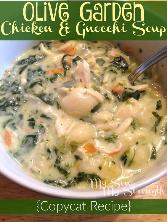 Menu For Olive Garden: Olive Garden Chicken And Gnocchi Soup Copycat Recipe