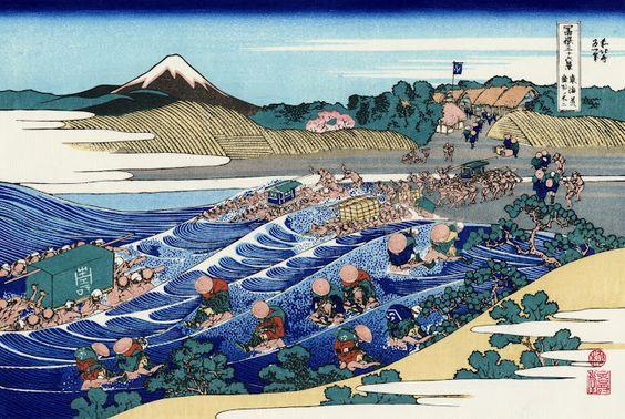 Fuji from Kanaya on Tokaido by Hokusai.jpg