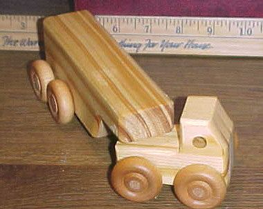 Handcrafted Wood Toy Semi 49CEH non toxic finish by MarvsCars, $5.20