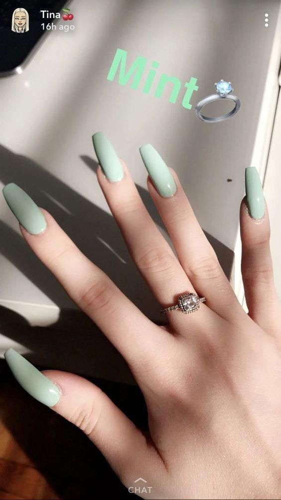 Have A Look At Our Coffin Acrylic Nail Ideas With Different Colors Trendy Coffin Nails Acrylic Nails Different Colo Nails Now Green Nails Cute Acrylic Nails