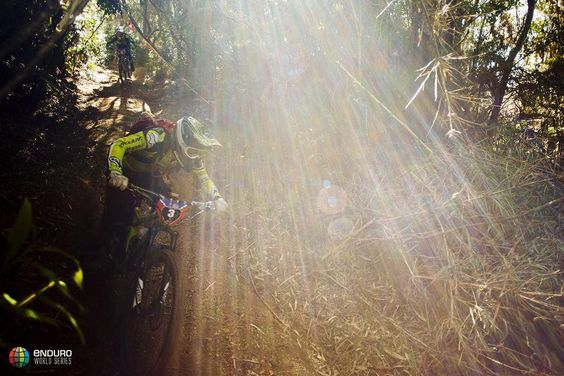 @endurojc catching the light during practice yesterday. Last day of practice today racing starts tomorrow!  @duncanphilpott #EWScorral by world_enduro