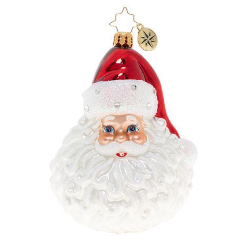 Christopher Radko STARRING SANTA Blown Glass Ornament Christmas Santa