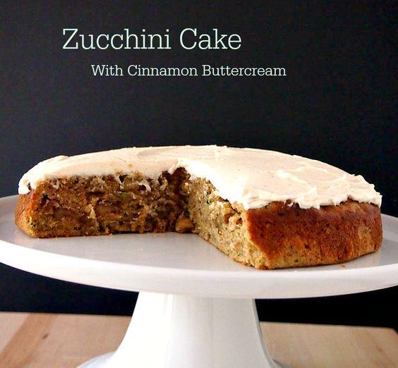 ... Cake with Cinnamon Buttercream | Recipe | Zucchini, Cinnamon and Cakes