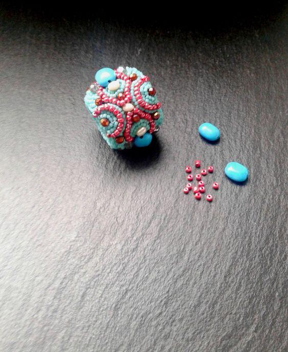 band ring, statement ring, tourquoise ring, gemstone ring, boho chic jewelry, by iluztro on Etsy