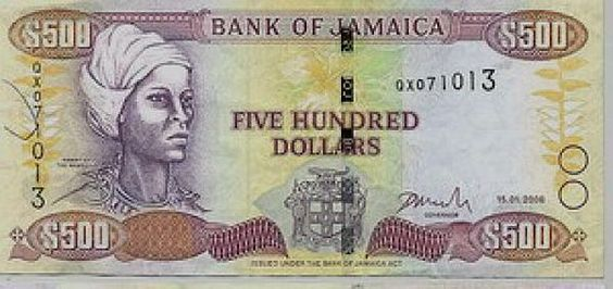 In 1976, the Jamaican government declared Queen Nanny a National Heroine, and her likeness is featured on the $500 Jamaican bill.