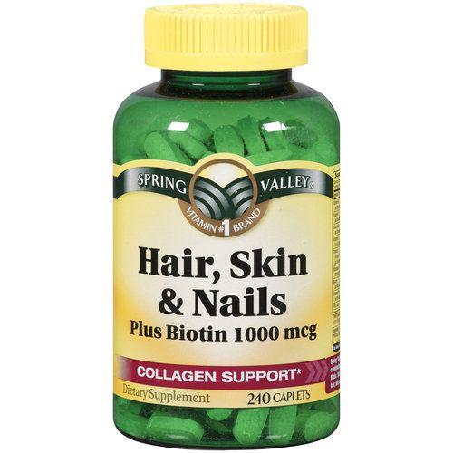Spring Valley Hair, Skin & Nails Plus Biotin Dietary