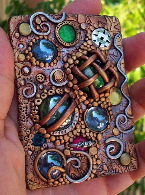 Polymer Clay Artists | Nature Block - by Nancy Denommee from Polymer Clay Art Gallery