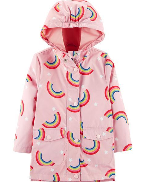 Baby Girl Rainbow Rain Jacket From Oshkosh B Gosh Shop Clothing Accessories From A Trusted Name In Kids Girls Rain Jackets Toddler Girl Jackets Girl Outfits