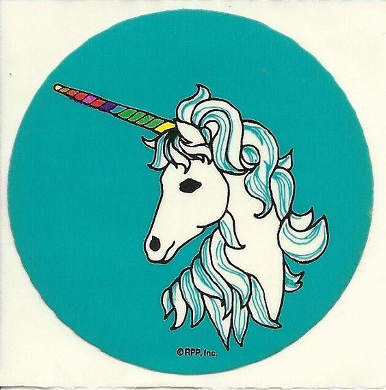 Vintage 80's RPP Unicorn Sticker. $3.00, via Etsy.