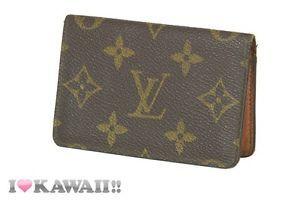 Authentic Louis Vuitton Monogram Bi-fold Card Case Holder Free Shipping!