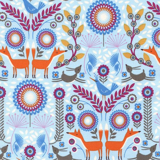 """TIMELESS TREASURES """"FOREST FROLIC"""" NORDIC WOODLAND Sky by yard #TimelessTreasuresFabric"""