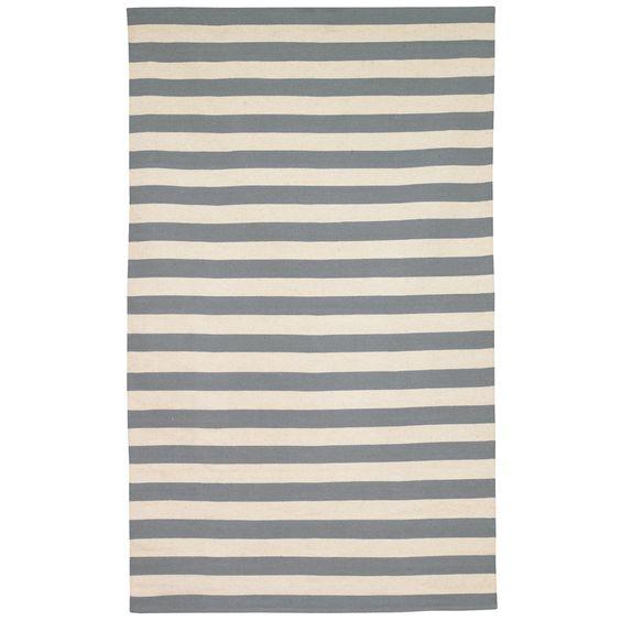 Zinc Door - Dwell Studio rug 8x10 $435 blue/cream