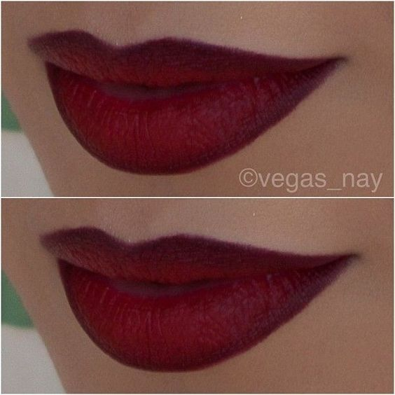 """@vegas_nay on Instagram: """"..directions on """"how to apply"""" these red... ❤ liked on Polyvore featuring beauty products, makeup, lip makeup and lipstick"""