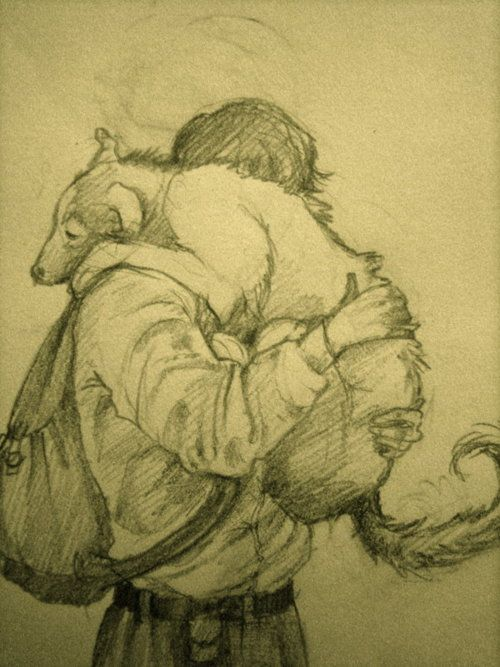 The sketch features James Blythe, Jem for short, the eldest son of Anne and Gilbert Blythe returning from war, welcomed by his faithful canine, Dog Monday.