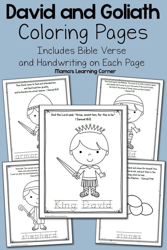 david coloring pages bible abc - photo#25