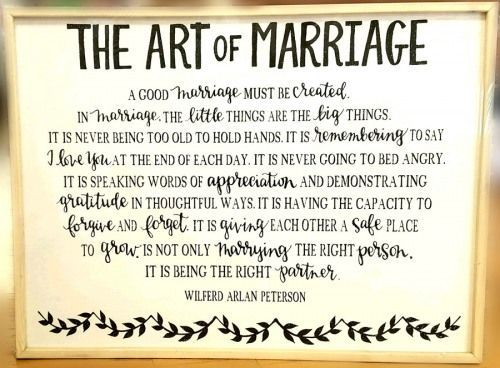 20661841 Art Of Marriage Framed Board Funny Marriage Advice Wedding Speech Quotes Marria Marriage Anniversary Quotes Love Quotes For Wedding Marriage Frame