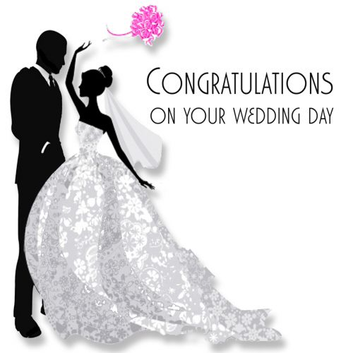 4490 Congratulations On Your Wedding Day 500x500 Png 500 Congratulation Cards Pinterest