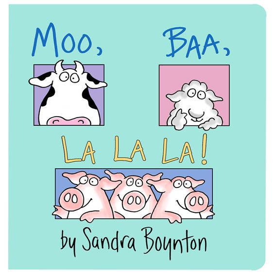 "This raucous story about the sounds animals make—including three pigs who say ""la la la!""—is just right for reading aloud. Serious silliness for all ages. Artist Sandra Boynton is back and better than"