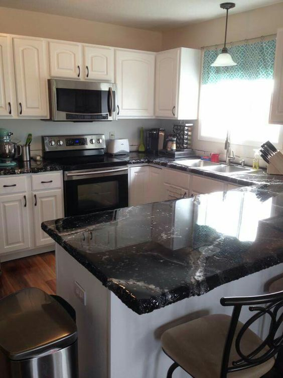 Kitchen Countertop Epoxy Paint : countertop epoxy countertops and more black beauty custom countertops ...