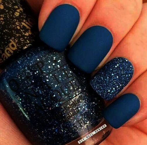 Home Blend Of Bites Teal Nails Cute Gel Nails Blue Matte Nails