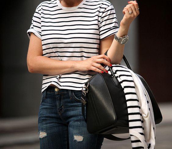 stripes on stripes + Givenchy Antigona bag