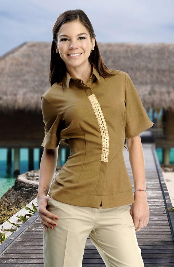 Camisas y blusas venta de uniformes para hoteles for Spa uniform in the philippines