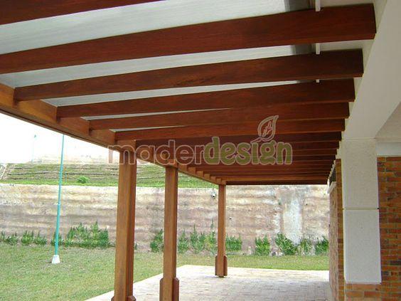Columna techo viga de madera buscar con google techos - Techos de pergolas ...