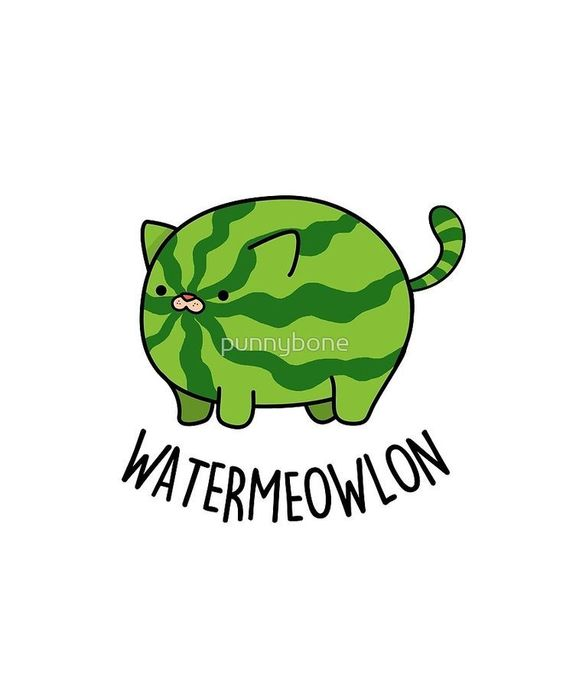 Cat pun! Water-meow-lon. LOL