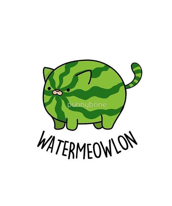 Cat pun! Water-meow-lon. LOL