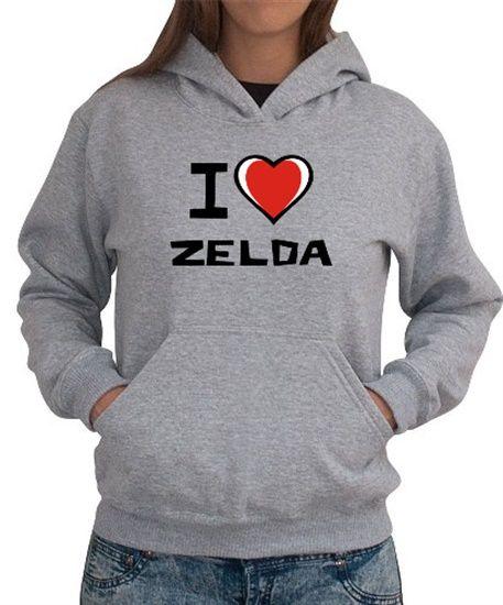 I Love Zelda Women Hoodies