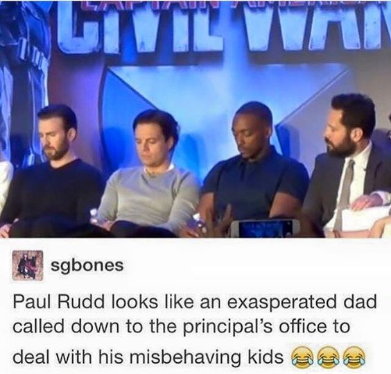 And Chris, Seb, and Anthony look like the kids who know they did something wrong and are just hanging their heads in shame