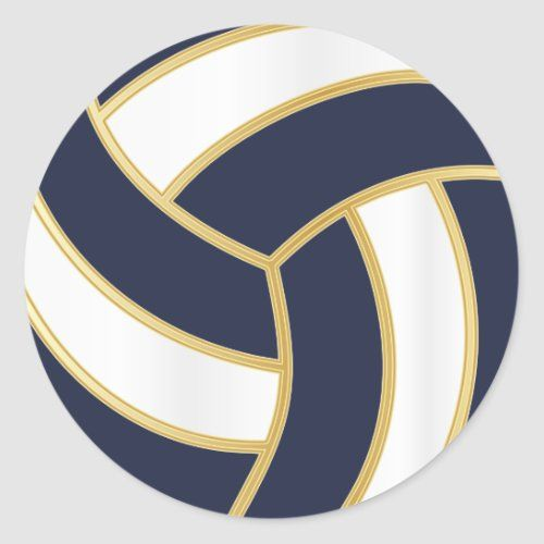 Volleyball Gold White And Diy Background Color Classic Round Sticker Zazzle Com In 2020 Volleyball Outfits Volleyball Designs Colorful Backgrounds