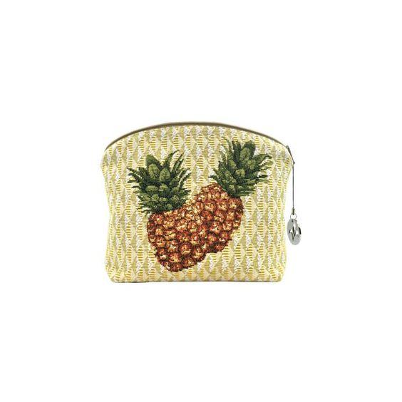 2258J : Pineapple yellow background - Cosmetic bags - Art de Lys