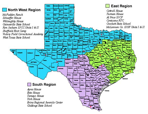 Rural Cities in North Texas – Map Usa North West