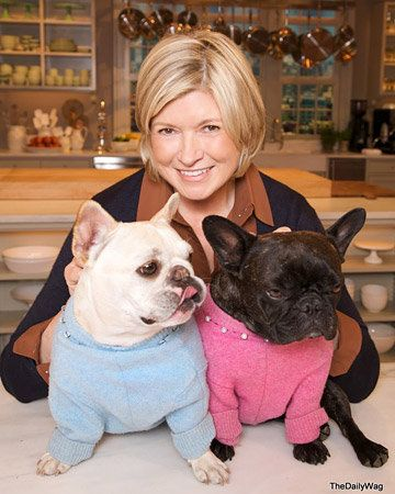 Martha Stewart and her lovely pair of #Frenchies