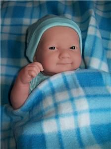 "Baby+Boy+Doll+clothes   ... LA NEWBORN VINYL BABY BOY DOLL/REBORN/BL ANKET/CLOTHES 14"" / 35CM.NEW"