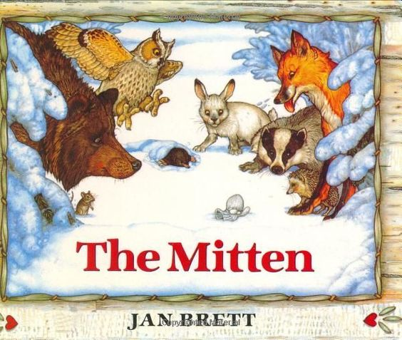 THE MITTEN BY JAN BRETT is a beloved children's book about a Ukranian boy who loses his mitten in the snow. The kids love as all the animals in the forest snuggle into the mitten. Do our corresponding craft by having the kids lace their own mittens and fill it with the animals from the story. http://bethebestnanny.com/2016/01/22/lace-a-mitten-filled-with-animals-and-read-the-mitten-by-jan-brett/