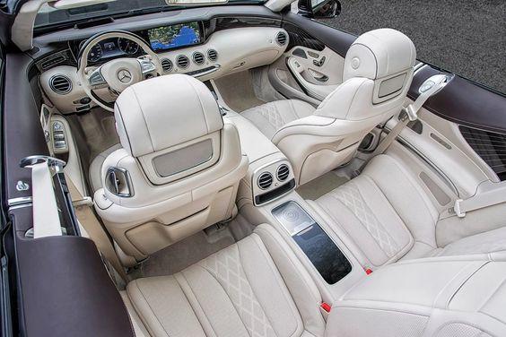 Photo: Das neue S-Class Cabriolet und der neue SLC, Côte d'Azur 2016, Mercedes Benz S 500 Cabriolet, rubinschwarz-mettalic, Leder: designo beige <<>> The new S-Class Cabriolet and the new SLC, Côte d'Azur 2016, Mercedes Benz S 500 Cabriolet, ruby black, Leather: designo Exclusive nappa porcelain / espresso brownKraftstoffverbrauch kombiniert:  8,5 (l/100 km), CO2-Emissionen kombiniert: 199 (g/km) Fuel consumption, combined:   8.5 (l/100 km), CO2 emissions, combined:  199 (g/km)