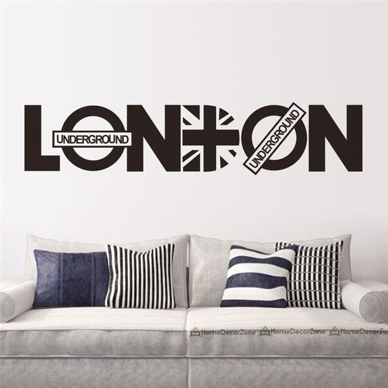 creative words LONDON wall stickers quotes