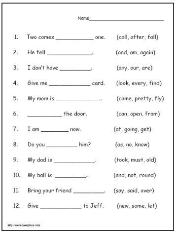 Reading Worksheet - 7 | Grade 1 worksheets | Pinterest | Reading ...