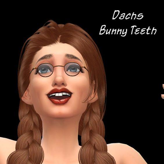 Sims 4 CC's - The Best: Bunny Teeth by Dachs