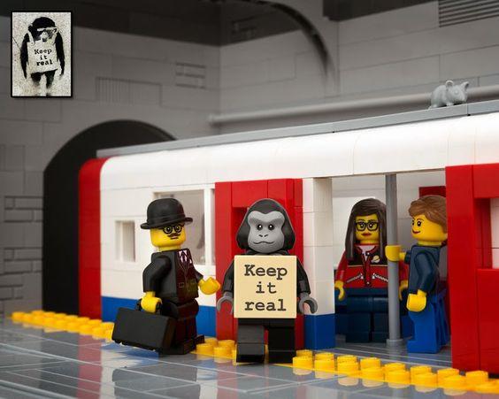 The Brick Fantastic II: Jeff Friesen reinterpreta las obras de Banksy... ¡En versión LEGO!