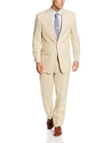 Calvin Klein Men's Malik Slim Fit Suit, Tan, 36 Short Calvin Klein