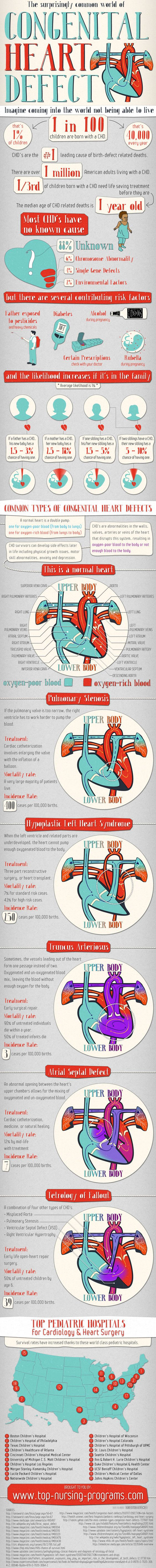 Educating parents about congenital heart defects (Infographic):