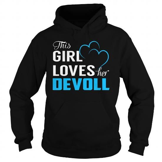 This Girl Loves Her DEVOLL - Last Name, Surname T-Shirt - #tshirt painting #pullover hoodie. This Girl Loves Her DEVOLL - Last Name, Surname T-Shirt, college hoodie,white sweater. HURRY =>...