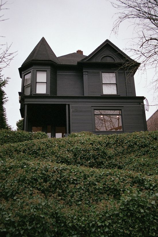 Home exterior paint ideas and all black on pinterest - Exterior black paint ideas ...