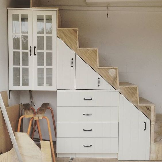 Happy Friday! We could have had #HarryPotter under the stairs but we decided on this awesome #storagesolution instead  #understairstorage #sustainableliving #tinyhouse #thetinyhousemovement @tiny.houses @smallsimpleliving #dreambig #livesmall inspired by @tinyhousetalk @dreambiglivetiny @tinyhousemagazine @greentinyhouse #nearlythere #followthejourney of the  #livingincloud9 #tinyhouse #offthegrid ✌