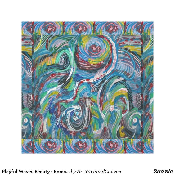 Playful Waves Beauty : Romantic Sensual LOWPRICE Canvas Print