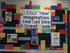 LEGO bulletin board for library.:
