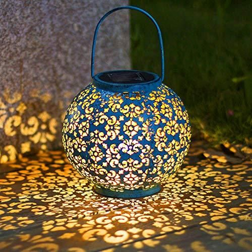 Buy Solar Big Lantern Hanging Garden Outdoor Lights Metal Waterproof Led Table Lamp Decorative Online At Low Prices In Usa Ergode Com Solar Hanging Lanterns Solar Lights Garden Outdoor Solar Lights